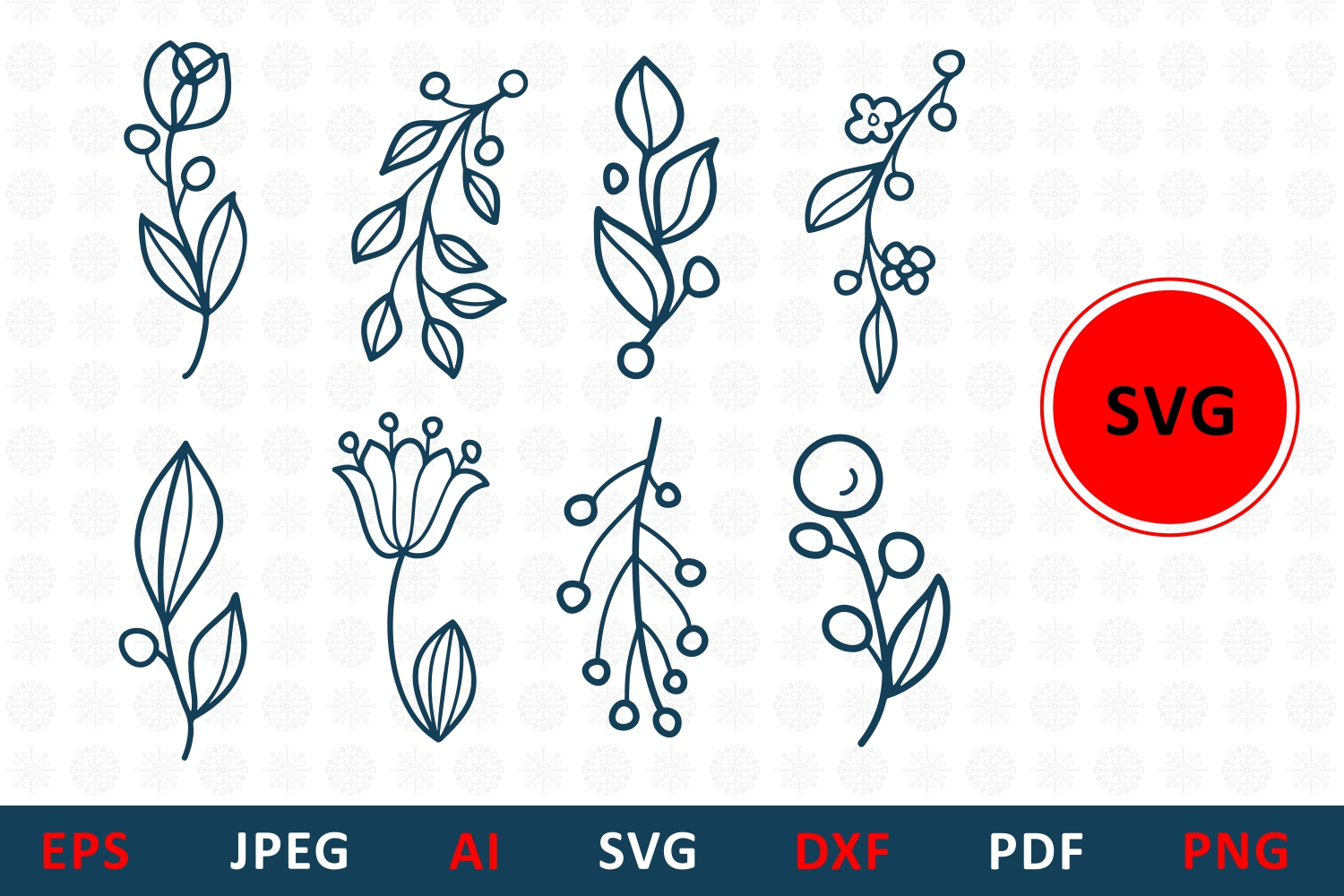 Floral Cut File For Family Monogram Graphic By Millerzoa