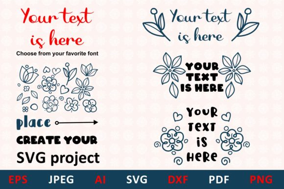 Download Free Floral Element Vector Graphic By Millerzoa Creative Fabrica for Cricut Explore, Silhouette and other cutting machines.