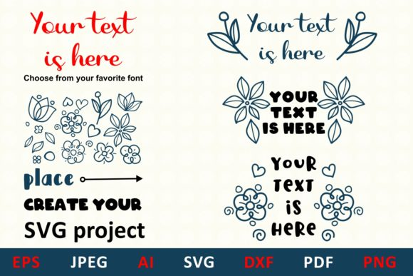 Download Free Floral Elements For Monogram And Card Graphic By Millerzoa for Cricut Explore, Silhouette and other cutting machines.