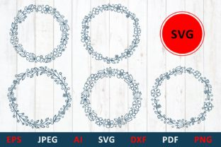 Download Free Floral Wreath For Monogram And Mailbox Graphic By Millerzoa for Cricut Explore, Silhouette and other cutting machines.