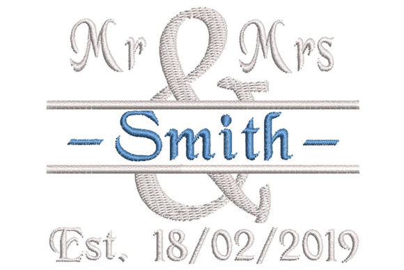 Print on Demand: For Newly Weds, Read the Description Wedding Monogram Embroidery Design By Embroidery Shelter - Image 1