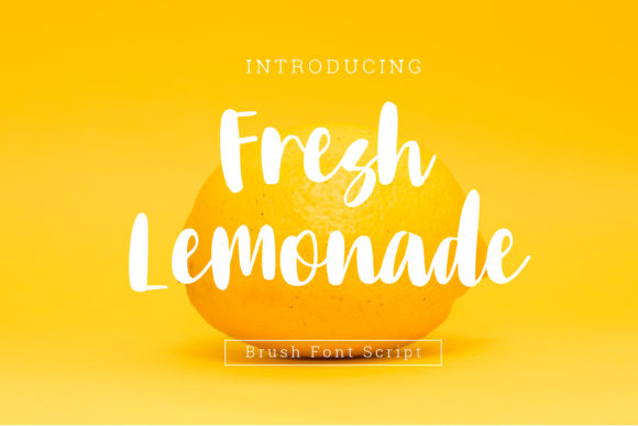 Print on Demand: Fresh Lemonade Script & Handwritten Font By dangglemstudio