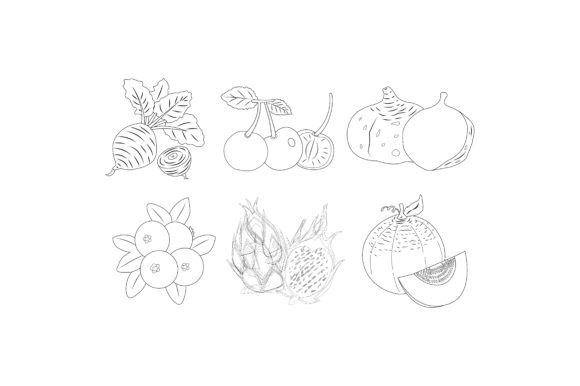 Download Free Fruit Outlines Graphic Illustration Graphic By Printablesplazza for Cricut Explore, Silhouette and other cutting machines.