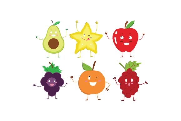 Download Free Fruits Coloured Graphic Illustration Set Graphic By for Cricut Explore, Silhouette and other cutting machines.