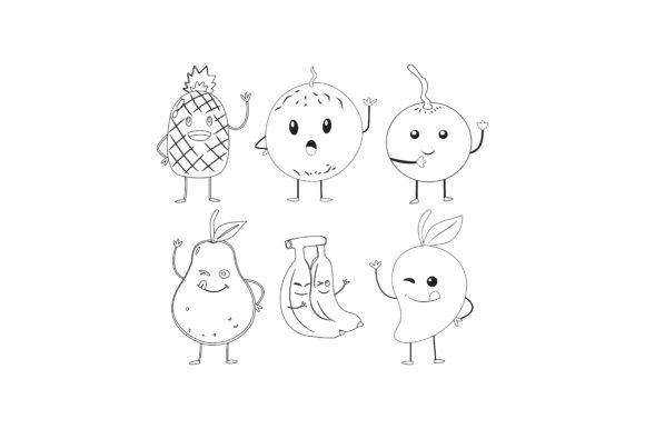 Download Free Fruits Outline Graphic Illustration Graphic By Printablesplazza for Cricut Explore, Silhouette and other cutting machines.