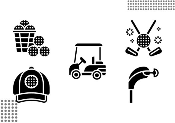 Download Free Golf Element Fill Graphic By Cool Coolpkm3 Creative Fabrica for Cricut Explore, Silhouette and other cutting machines.