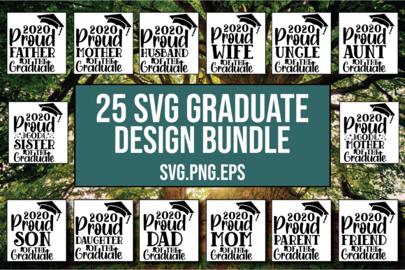 Download Free Graduation Bundle Class Of 2020 Graphic By Patternfeed for Cricut Explore, Silhouette and other cutting machines.