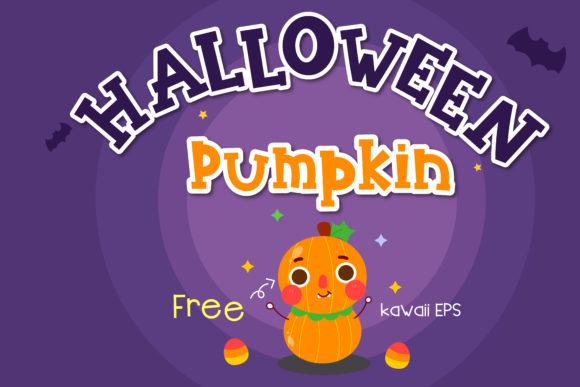 Download Free Halloween Pumpkin Font By Vividdiy8 Creative Fabrica for Cricut Explore, Silhouette and other cutting machines.