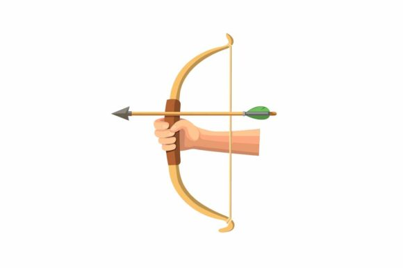 Download Free Hand Holding Wooden Bow Archery Symbol Graphic By Aryo Hadi SVG Cut Files