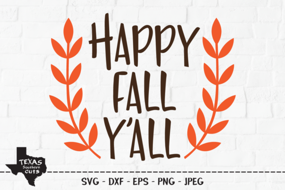 Print on Demand: Happy Fall Y'all - Fall Shirt Design Graphic Crafts By texassoutherncuts