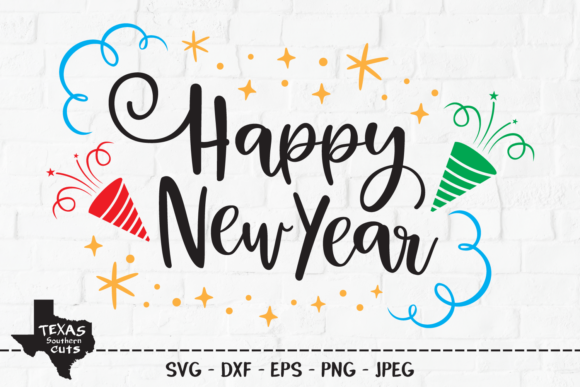Download Free Happy New Year New Years Eve Design Graphic By for Cricut Explore, Silhouette and other cutting machines.