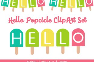Hello Popcicle ClipArt Graphic Illustrations By Miss Cherry Designs 1