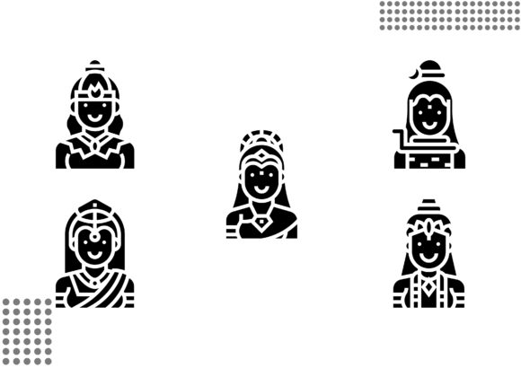 Download Free Hindu God Fill Graphic By Cool Coolpkm3 Creative Fabrica for Cricut Explore, Silhouette and other cutting machines.