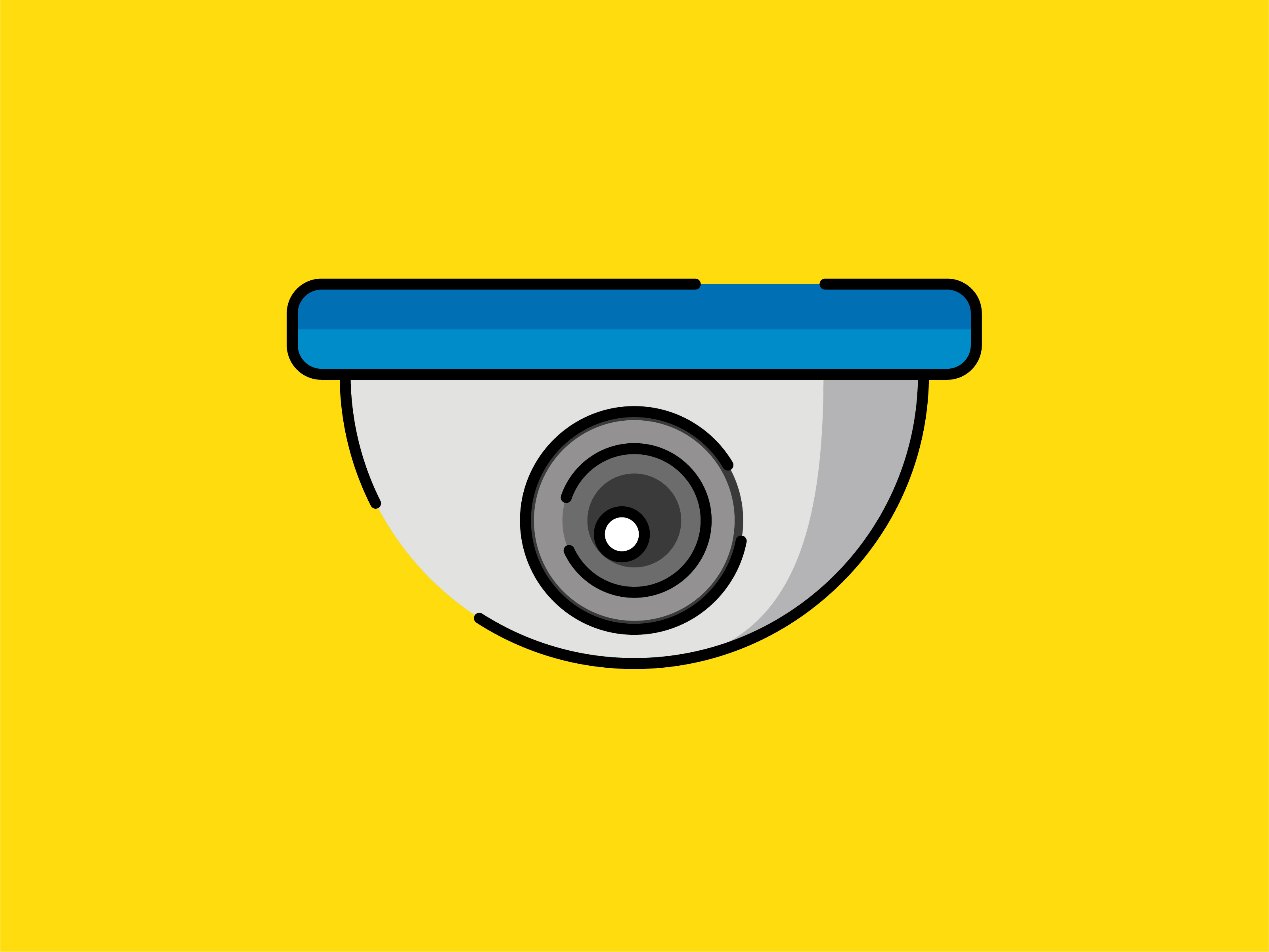 Download Free Icon Cctv Striped Line Graphic By Meandmydate Creative Fabrica for Cricut Explore, Silhouette and other cutting machines.