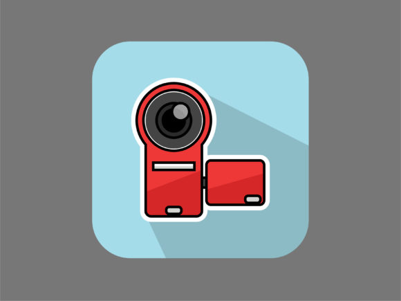Download Free Icon Camcorder New Graphic By Meandmydate Creative Fabrica for Cricut Explore, Silhouette and other cutting machines.