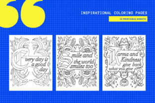 Print on Demand: Inspiring Motivating - 15 Colouring Pages Graphic Coloring Pages & Books By MarinovaDesigns