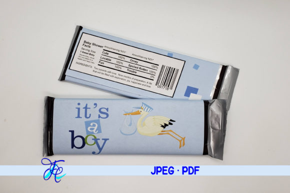Download Free It S A Boy Stork Candy Bar Wrapper Graphic By Family Creations for Cricut Explore, Silhouette and other cutting machines.