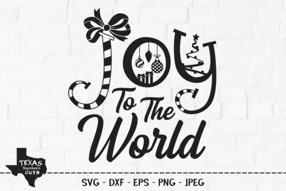 Print on Demand: Joy to the World - Christmas Design Graphic Crafts By texassoutherncuts