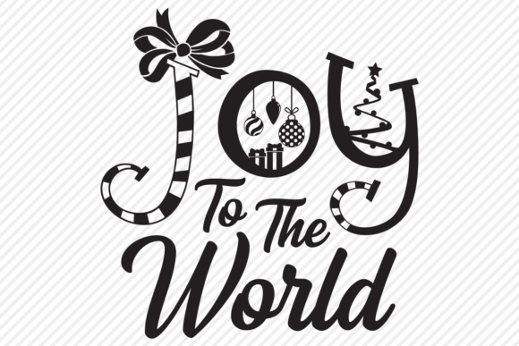 Download Free Joy To The World Christmas Design Graphic By Texassoutherncuts for Cricut Explore, Silhouette and other cutting machines.