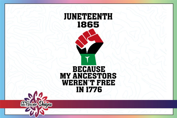 Download Free Juneteenth 1865 Black Fist Graphic Graphic By Ssflower for Cricut Explore, Silhouette and other cutting machines.