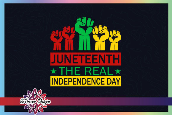 Download Free Junetheen Fist The Real Independence Day Graphic By Ssflower for Cricut Explore, Silhouette and other cutting machines.