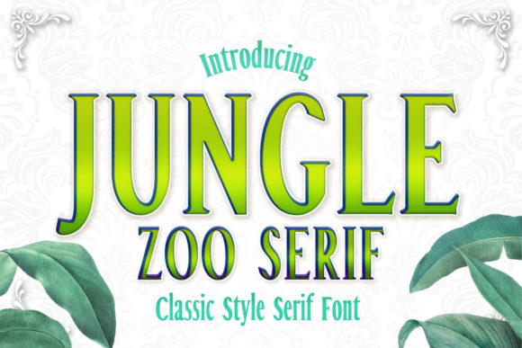 Download Free Jungle Font By Numnim Creative Fabrica for Cricut Explore, Silhouette and other cutting machines.
