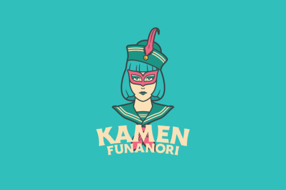 Download Free Kamen Funanori Logo Template Graphic By Kreasimalam Creative for Cricut Explore, Silhouette and other cutting machines.