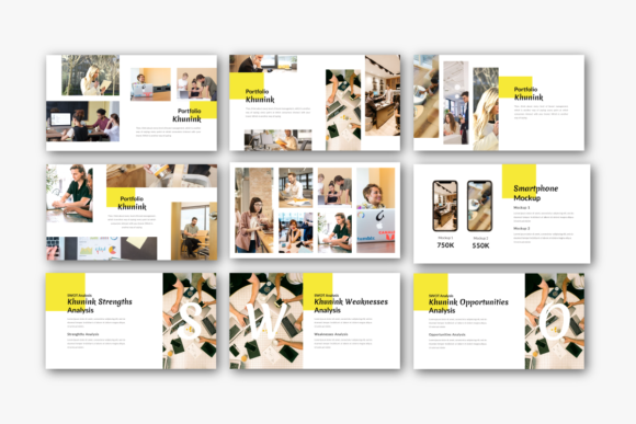 Download Free Khunink Business Google Slides Template Graphic By Inkofert SVG Cut Files