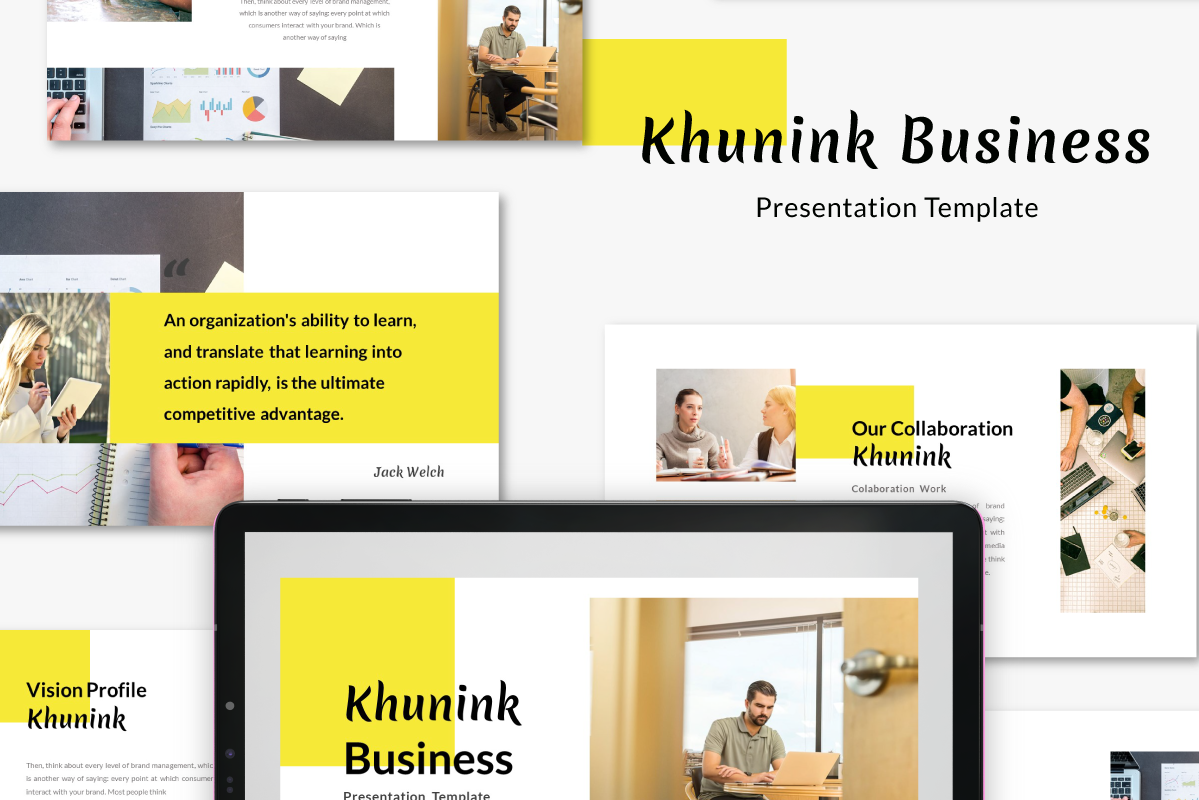 Download Free Khunink Business Keynote Template Graphic By Inkofert for Cricut Explore, Silhouette and other cutting machines.