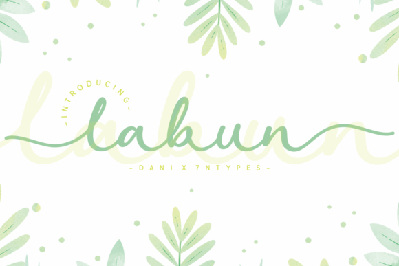 Print on Demand: Labun Script & Handwritten Font By Dani (7NTypes)