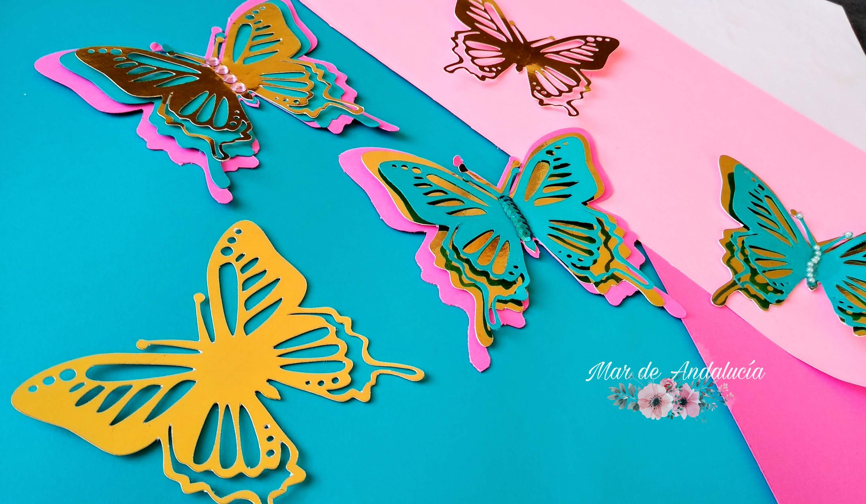 Layered Butterfly SVG File