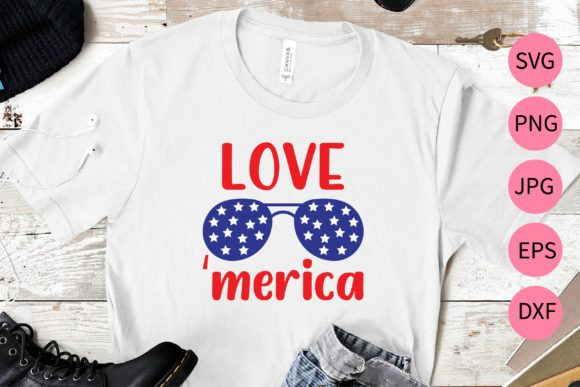 Download Free Love Merica Graphic By Midasstudio Creative Fabrica for Cricut Explore, Silhouette and other cutting machines.