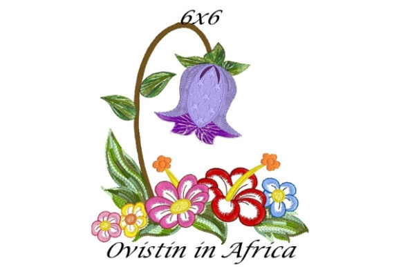 Lovely Spring Blossom Garden Flower Bouquets & Bunches Embroidery Design By Ovistin in Africa - Image 1