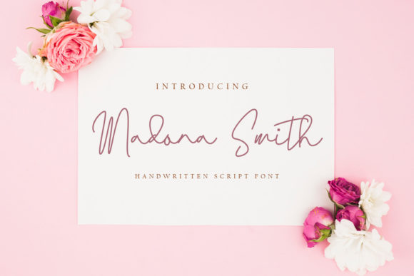 Print on Demand: Madona Smith Script & Handwritten Font By fiqiart09