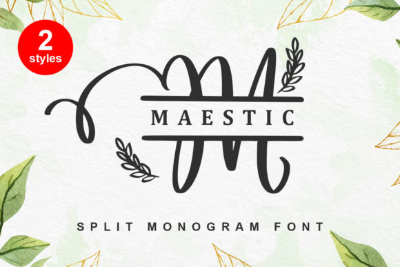 Print on Demand: Maestic Script & Handwritten Font By Abodaniel