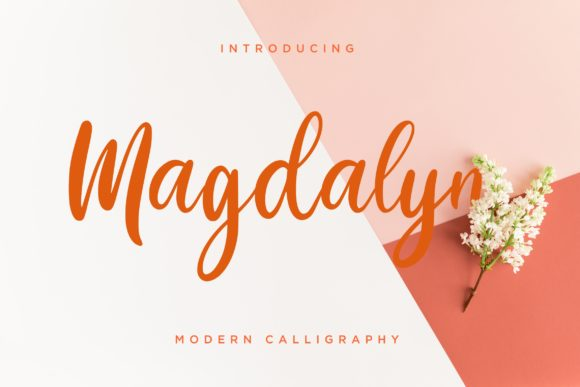 Download Free Magdalyn Font By Creatypestudio Creative Fabrica for Cricut Explore, Silhouette and other cutting machines.