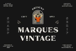 Print on Demand: Marques Vintage Display Font By craftsupplyco