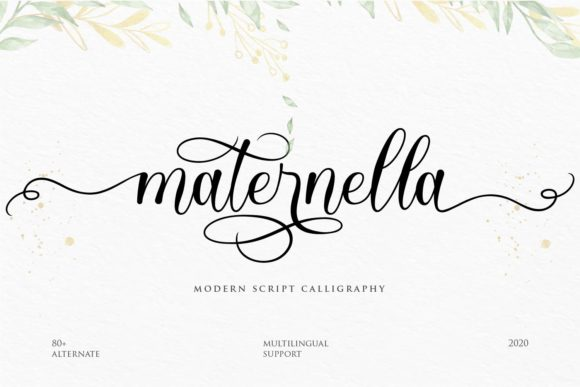 Print on Demand: Maternella Script & Handwritten Font By Create Big Supply