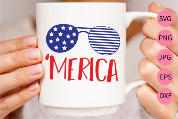 Download Free Merica Graphic By Midasstudio Creative Fabrica for Cricut Explore, Silhouette and other cutting machines.