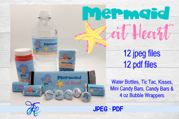 Download Free Mermaid At Heart Bundle Graphic By Family Creations Creative for Cricut Explore, Silhouette and other cutting machines.