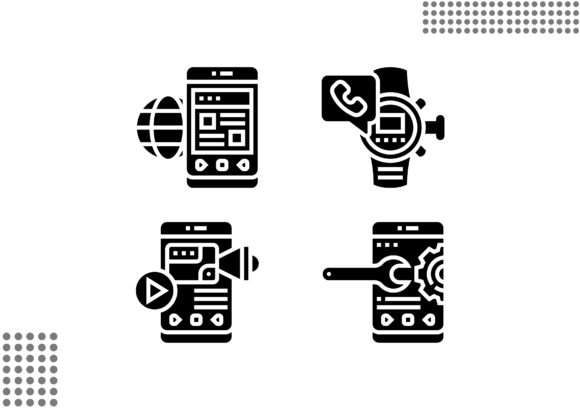Download Free Mobile Application Fill Graphic By Cool Coolpkm3 Creative Fabrica for Cricut Explore, Silhouette and other cutting machines.