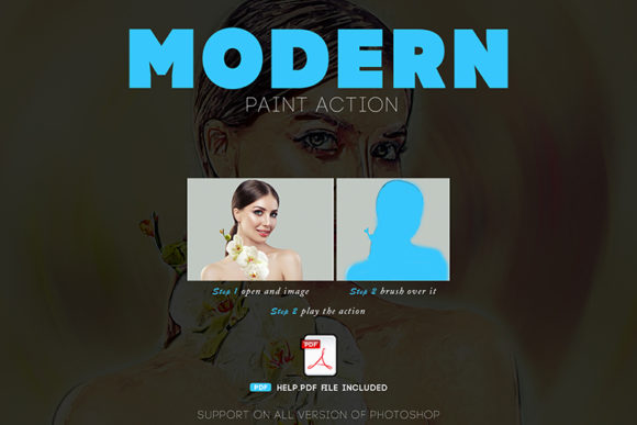 Download Free Modern Paint Photoshop Action Graphic By Sojibshariyar for Cricut Explore, Silhouette and other cutting machines.