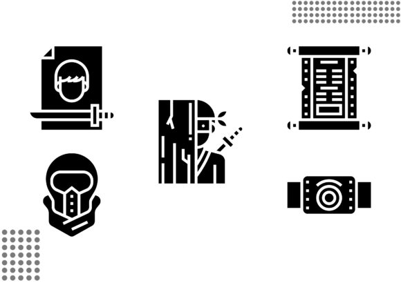 Ninja Element Fill Graphic Icons By cool.coolpkm3