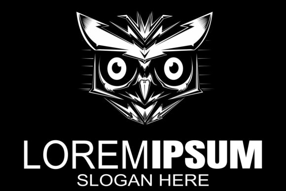 Download Free Owl Night Hunter Logo Design Graphic By Epic Graphic Creative for Cricut Explore, Silhouette and other cutting machines.