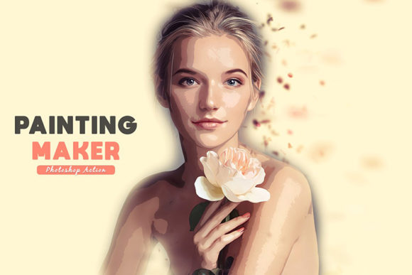 Download Free Painting Maker Photoshop Action Graphic By Sojibshariyar SVG Cut Files