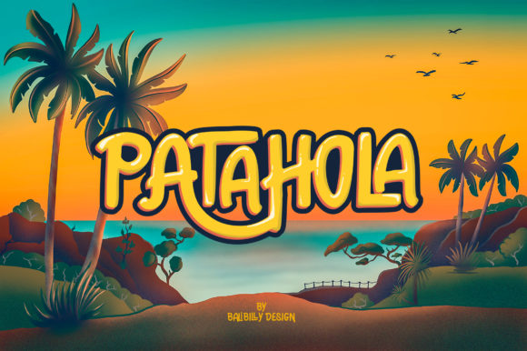 Download Free Patahola Font By Balibilly Design Creative Fabrica for Cricut Explore, Silhouette and other cutting machines.