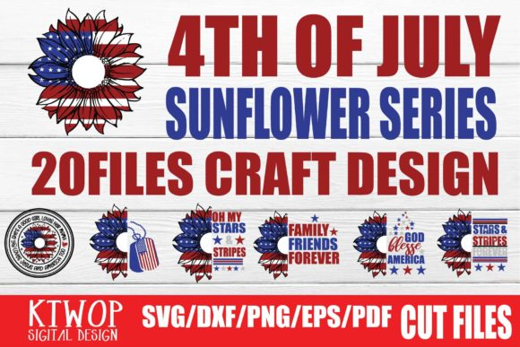 Print on Demand: Patriotic 4th of July - 20 Files Bundle Graphic Crafts By KtwoP