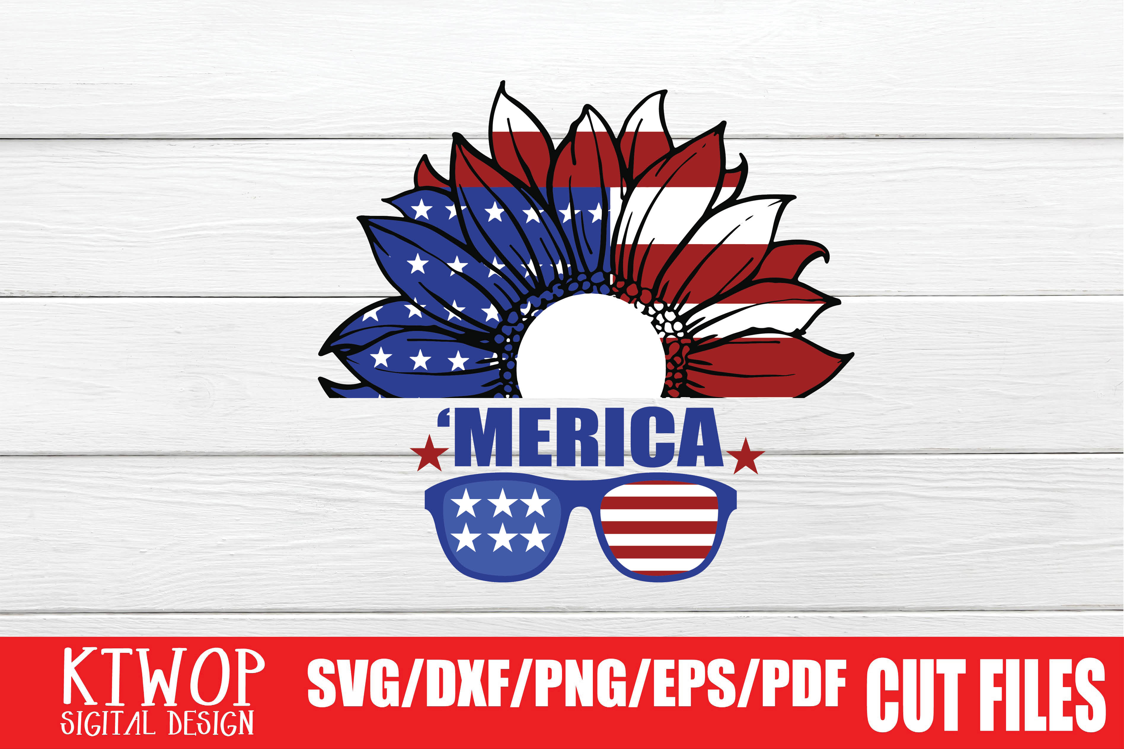Download Free Merica Graphic By Ktwop Creative Fabrica for Cricut Explore, Silhouette and other cutting machines.