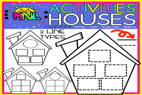 Pre-made All Purposes Activities Houses Graphic Teaching Materials By Ziza Mariposa