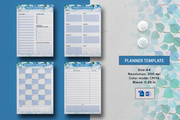 Printable Planner Template Graphic Print Templates By sistecbd